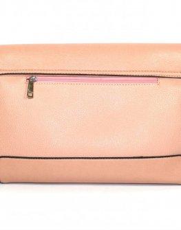 Дамска чанта Sara Pen в цвят праскова