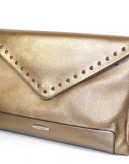 Златиста дамска чанта - клъч Sara Pen