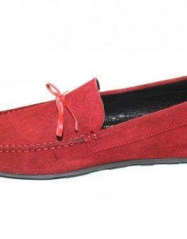 Червени мъжки мокасини Sara Pen