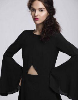 Екстравагантна черна рокля Pulse