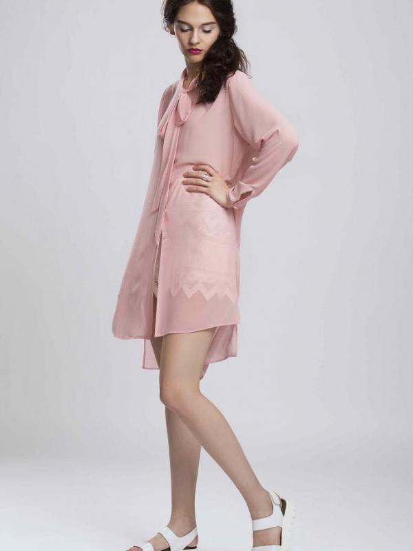 Елегантна дамска риза в розово Pulse