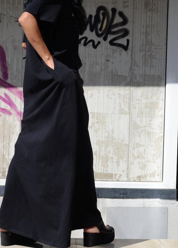 Дизайнерска дълга рокля с къс ръкав Kotyto