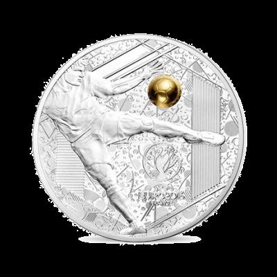 """Монета """"Велики спортни събития – Уефа ЕВРО 2016- Силен удар"""""""