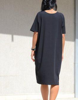 Черна рокля Kotyto в макси размери