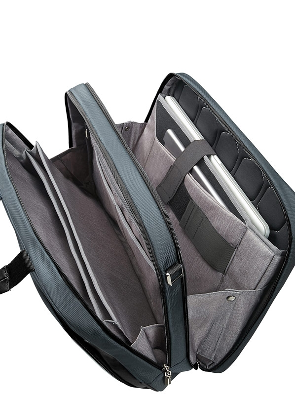 Бизнес чанта в сиво и черно XBR