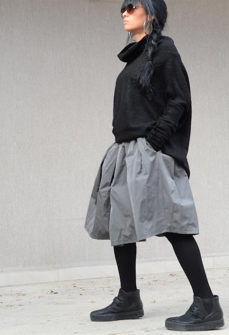 Черен макси пуловер Kotyto