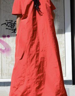 Червена макси рокля Kotyto