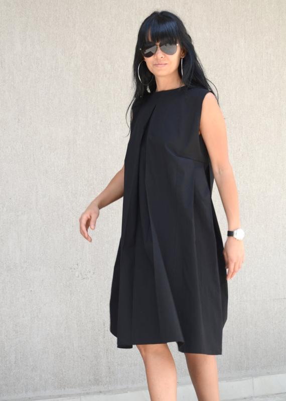 Черна рокля Kotyto - макси размери