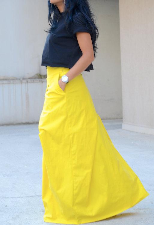 Макси пола в жълто Kotyto
