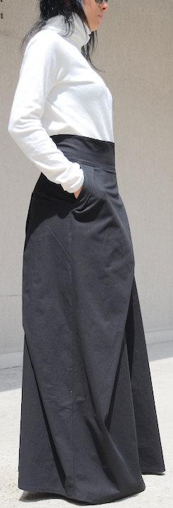 Черна макси пола Kotyto