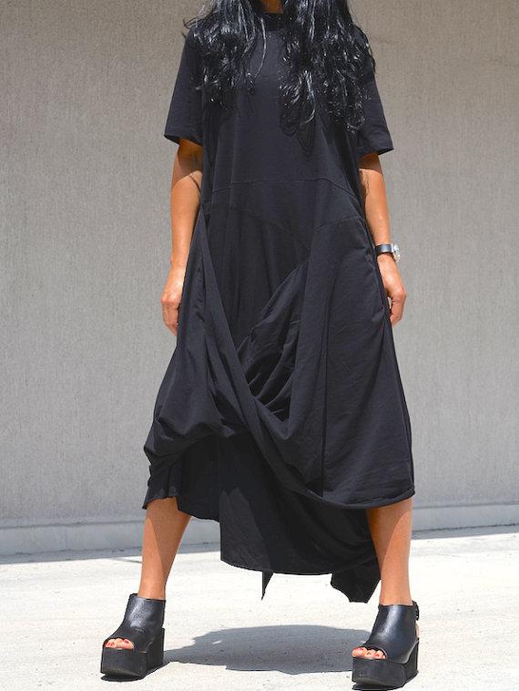 Ефектна макси рокля в черно Kotyto