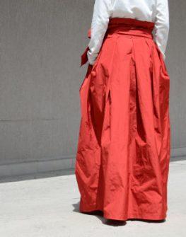 Червена макси пола Kotyto