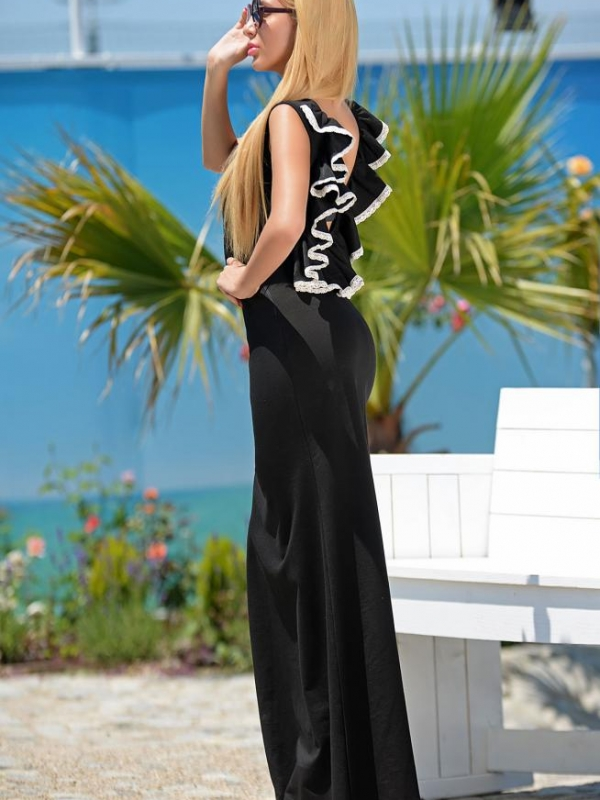 Дълга рокля с гол гръб DPmoda