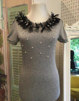 Блуза с перли и панделки Aggata