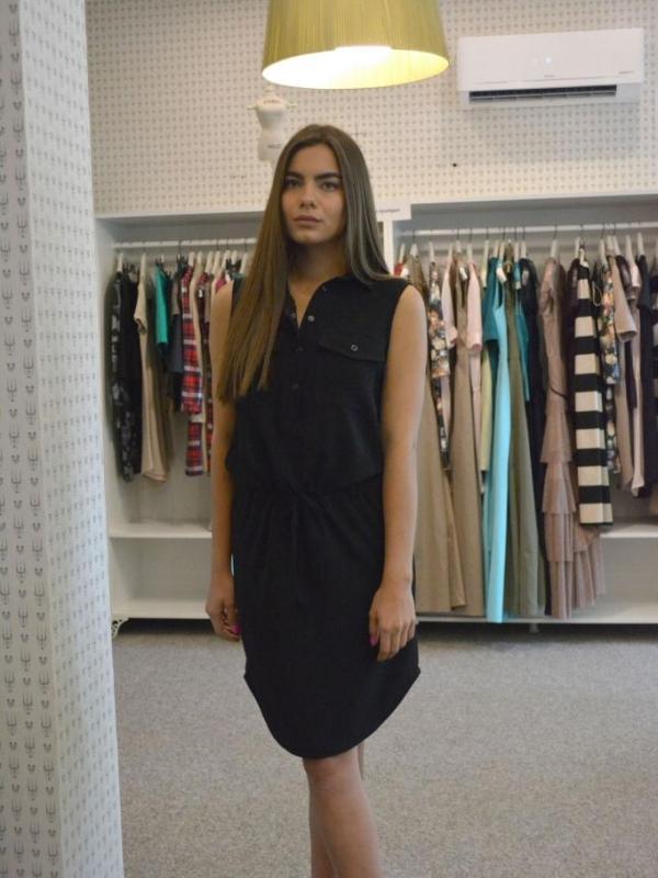 Дизайнерска рокля без ръкав Aggata
