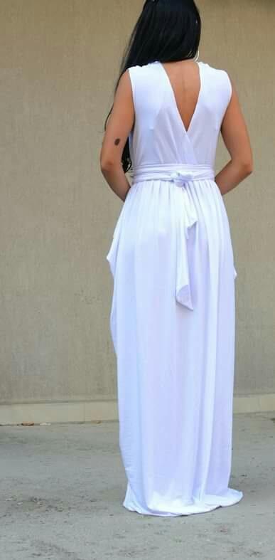 Макси рокля в бяло Kotyto