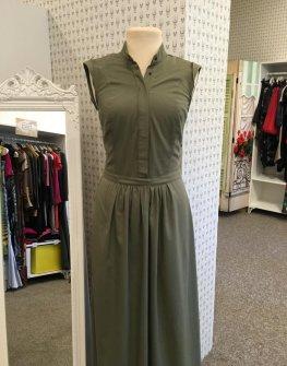Тъмнозелена рокля в макси размери Aggata