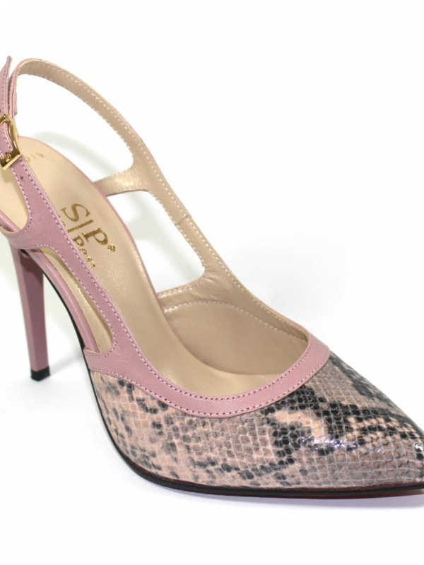 Стилни обувки Sara Pen - розова змия