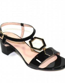 Ефектни дамски сандали на нисък ток Sara Pen