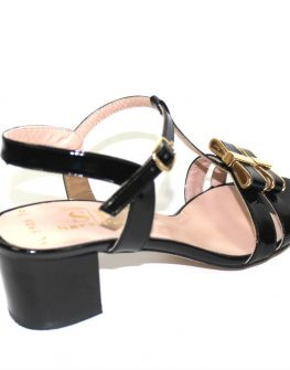 Черни елегантни дамски сандали Sara Pen