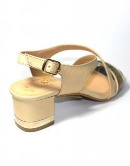 Дамски сандали Sara Pen със змийски акцент