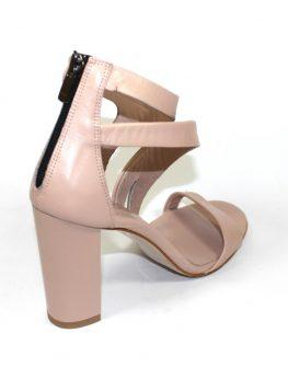 Сандали от естествена кожа Sara Pen в розово
