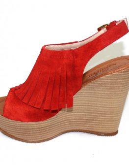 Дамски сандали Sara Pen в червено