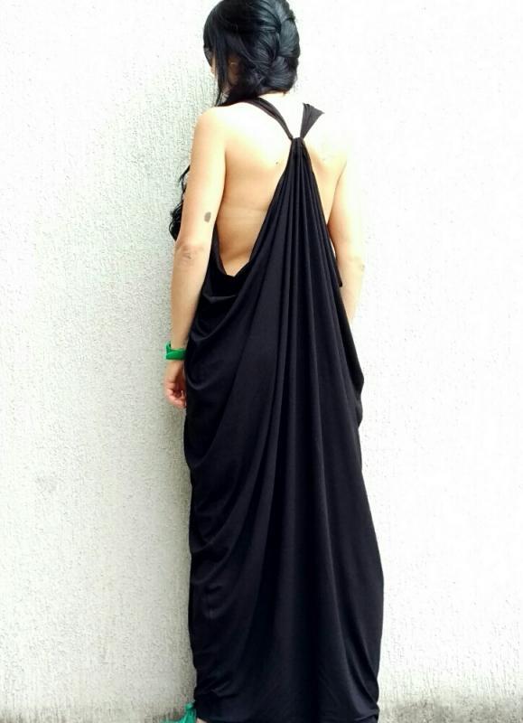 Черна дизайнерска рокля Kotyto