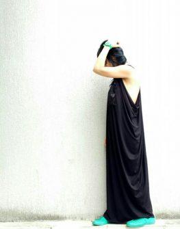 Дълга рокля в големи размери Kotyto