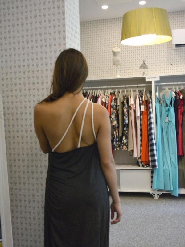 Ефектна дълга рокля Aggata