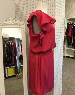 Ефирна рокля в червено Aggata