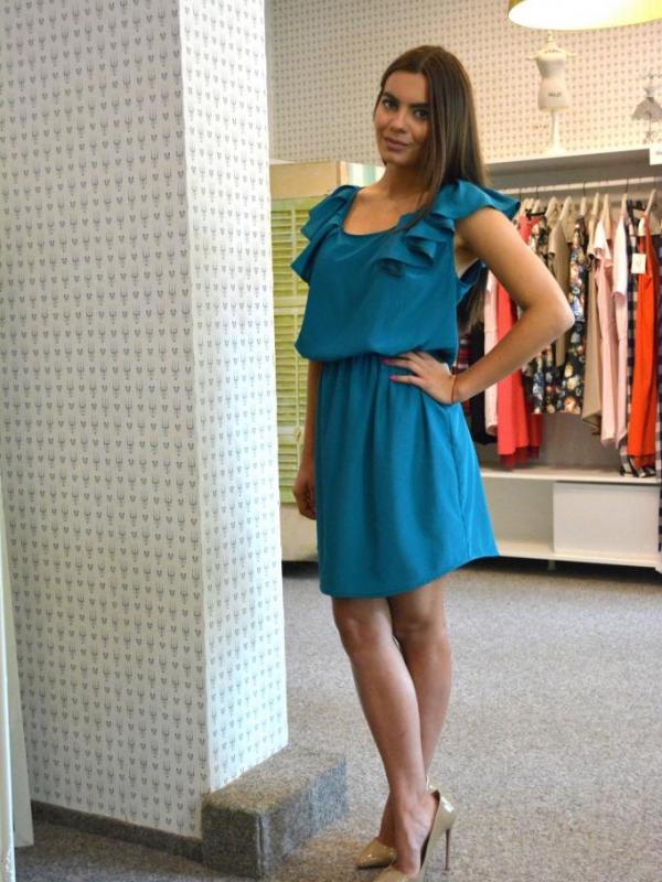 Къса стилна рокля Aggata