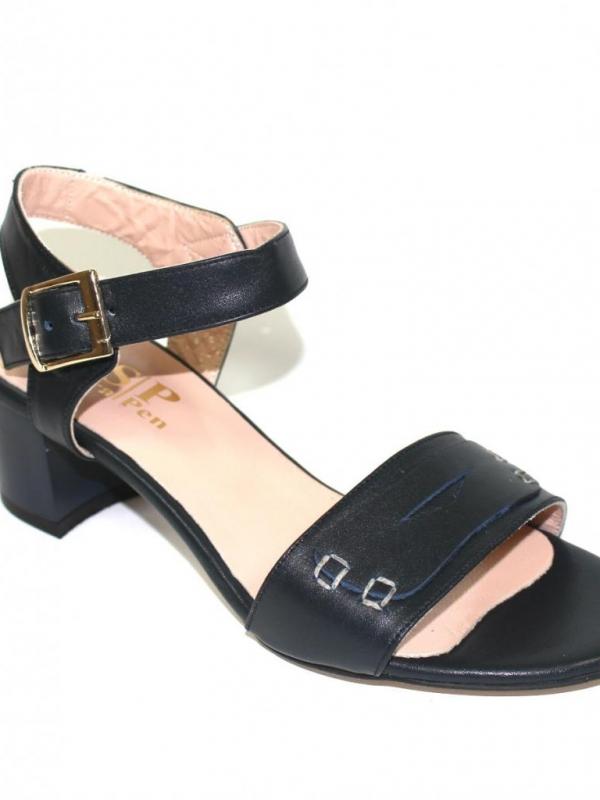 Семпли дамски сандали в синьо Sara Pen