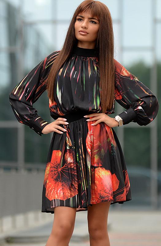 Цветна бутикова рокля DPmoda