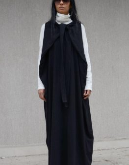 Дълга бутикова рокля Kotyto в черно