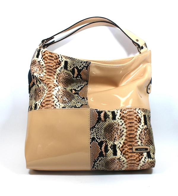 Дамска стилна чанта в бежово Sara Pen