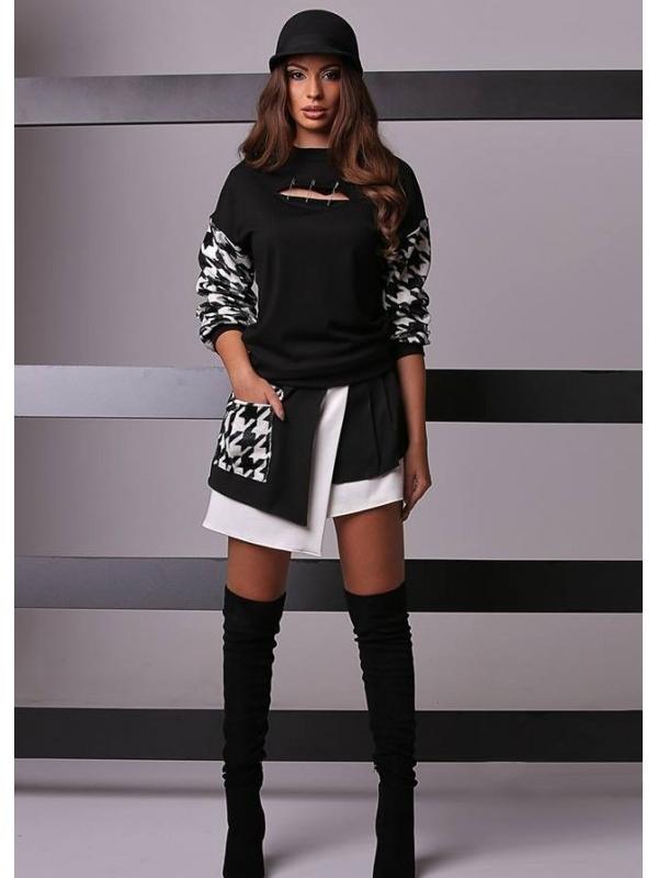 Дизайнерска блуза с дълъг ръкав Cocoon