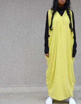 Дизайнерска рокля в жълто Kotyto