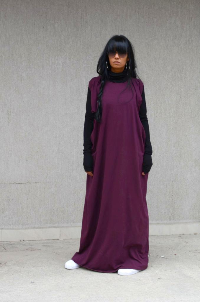 Дълга бутикова рокля в лилаво Kotyto