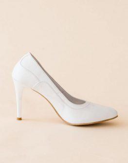 Дамски обувки на ток в бяло Balis
