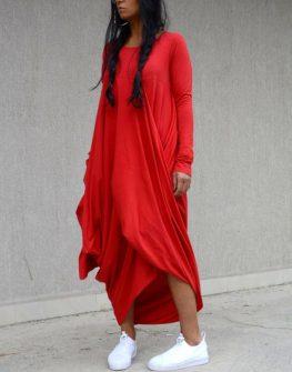 Макси рокля с дълъг ръкав Kotyto