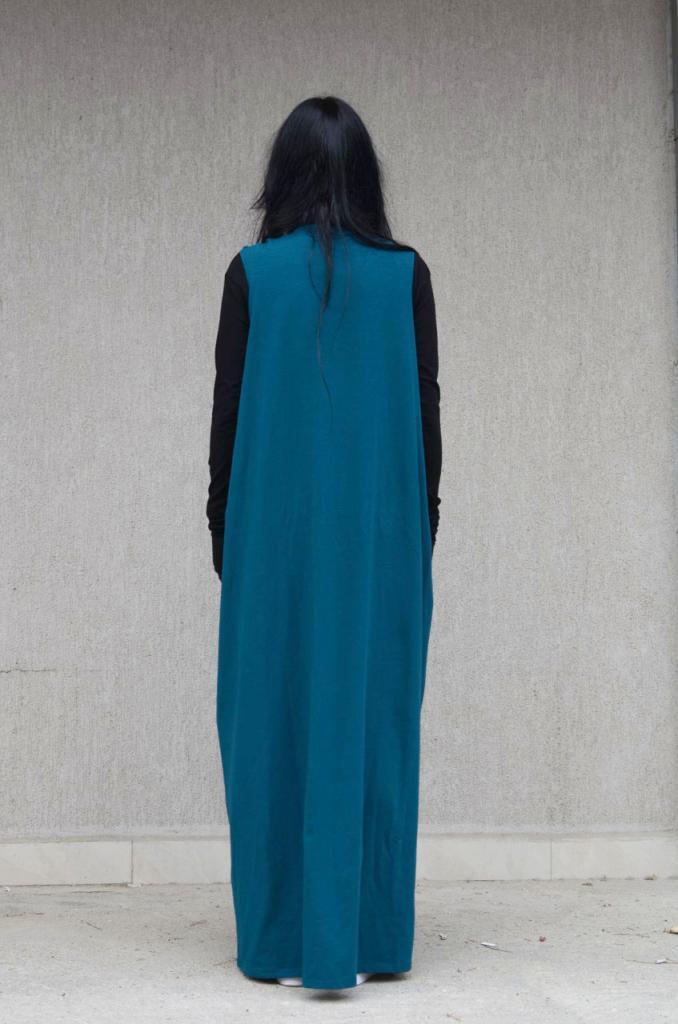 Макси рокля в синьо Kotyto