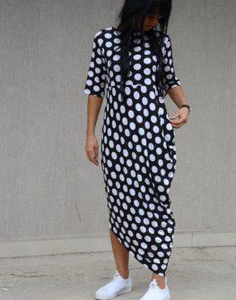 Макси рокля на точки Kotyto