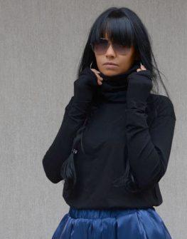 Дизайнерско поло в черно Kotyto