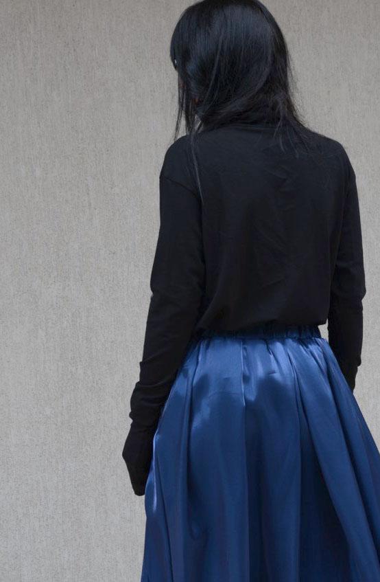 Черно поло в макси размери Kotyto