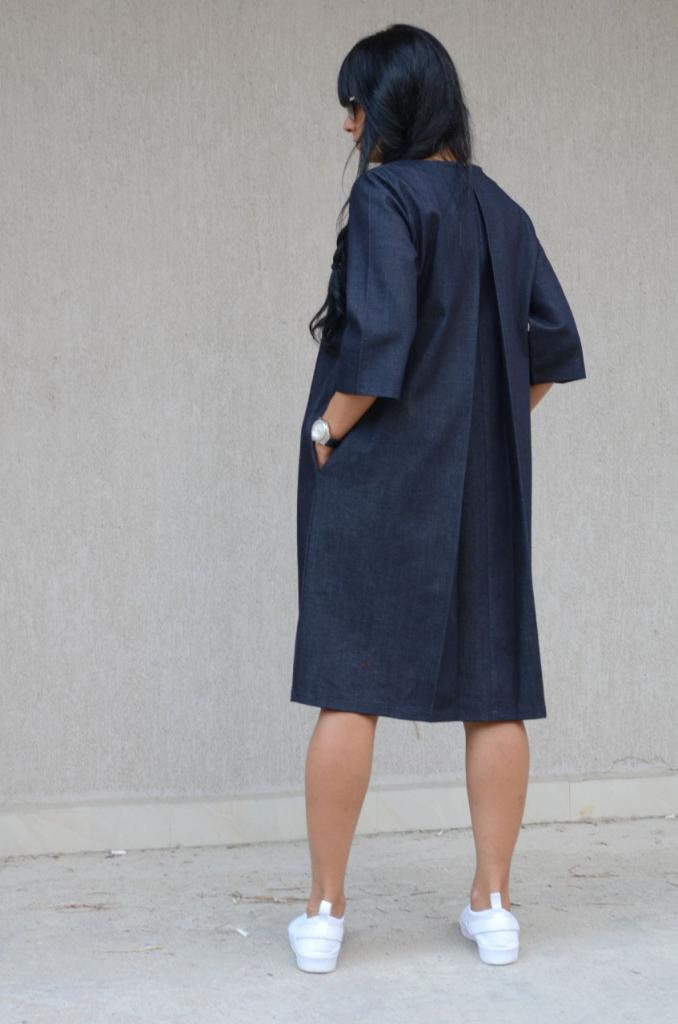 Макси рокля от деним Kotyto