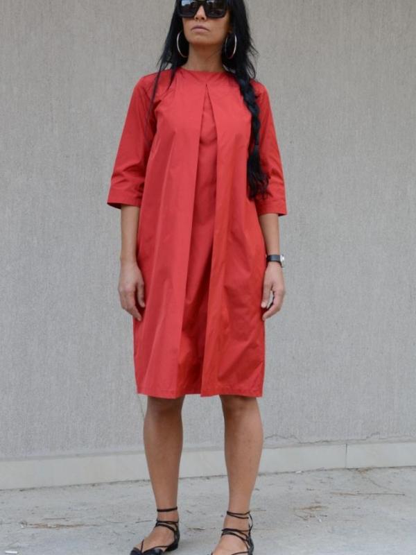 Червена рокля до коляното Kotyto