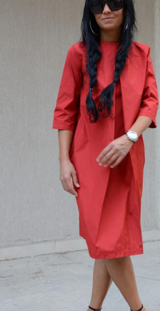 Дизайнерска макси рокля в червено Kotyto