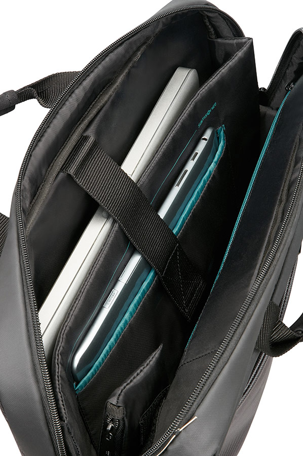 Сива чанта за лаптоп Samsonite Qibyte