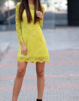 Стилна къса рокля DPmoda